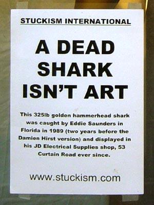 Stuckists A Dead Shark Isn T Art